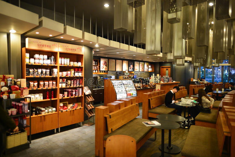 Starbucks Cafe interior editorial image. Image of commercial - 61051495