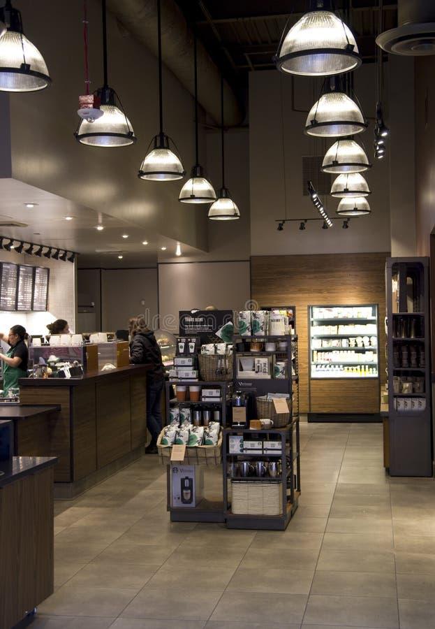 Starbucks coffee shop stock photos