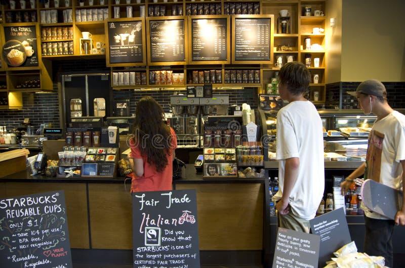 Starbucks sklep z kawą obraz royalty free