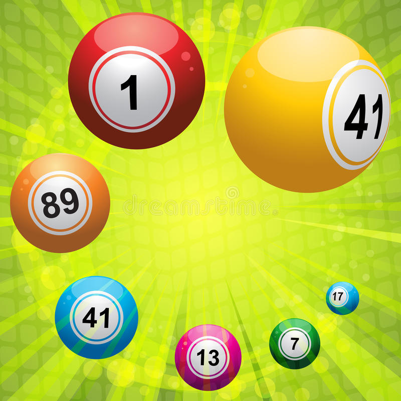 starburst зеленого цвета bingo шарика иллюстрация вектора
