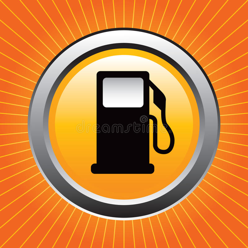 starburst насоса газа померанцовое бесплатная иллюстрация
