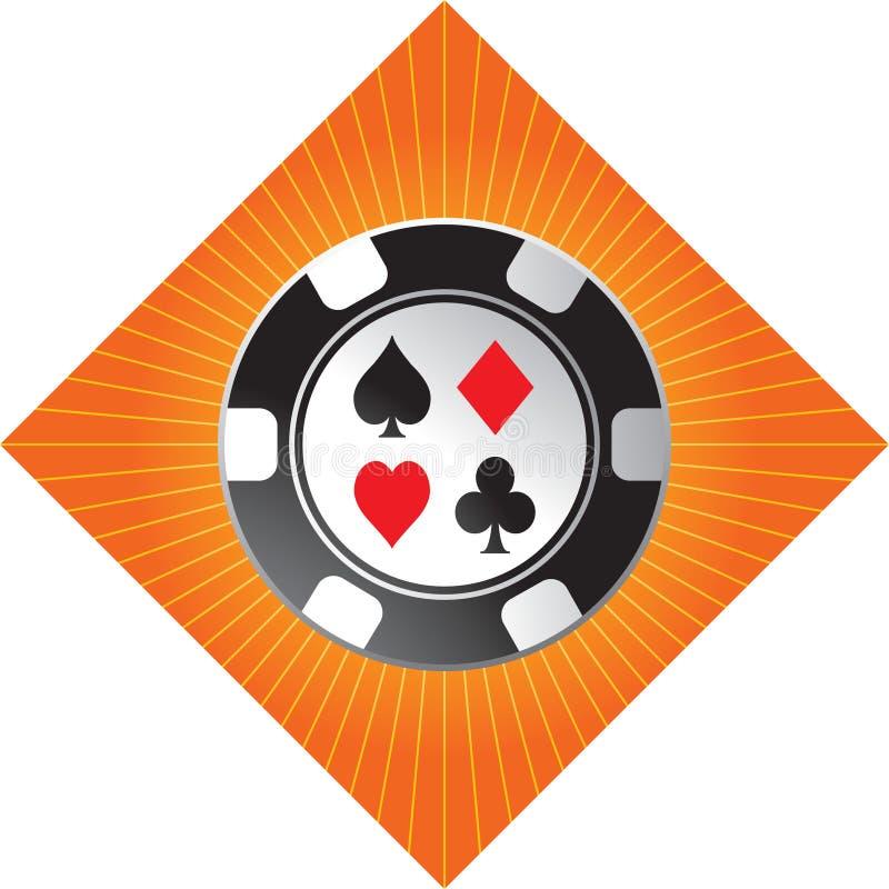 starburst померанца обломока казино иллюстрация штока