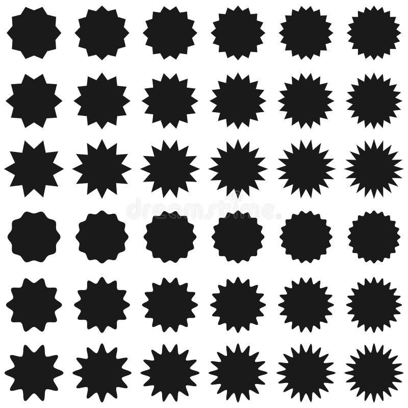 Starburst продажи Promo sunburst значка ярлыка иллюстрация вектора