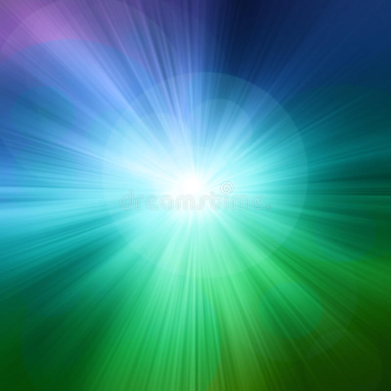 Starburst绿色抽象背景 免版税库存照片