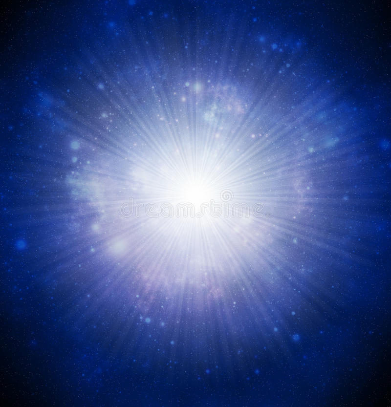 Starburst. Abstract illustration of universe bodies royalty free illustration