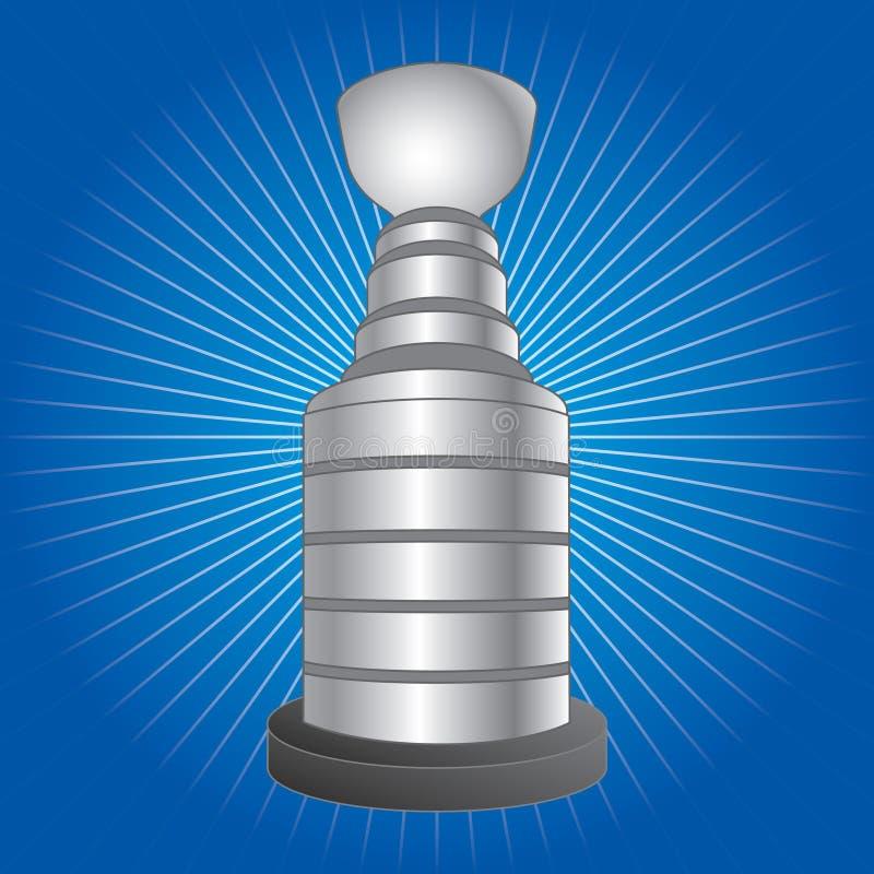 starburst błękitny hokejowy trofeum ilustracji
