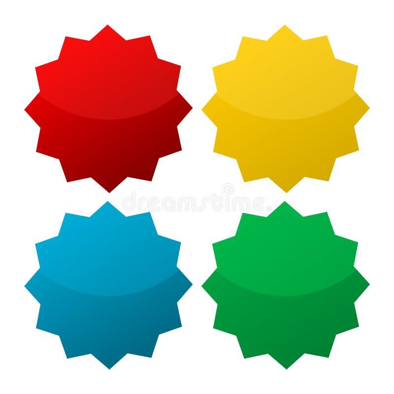 Starburst, badge shapes stock photo
