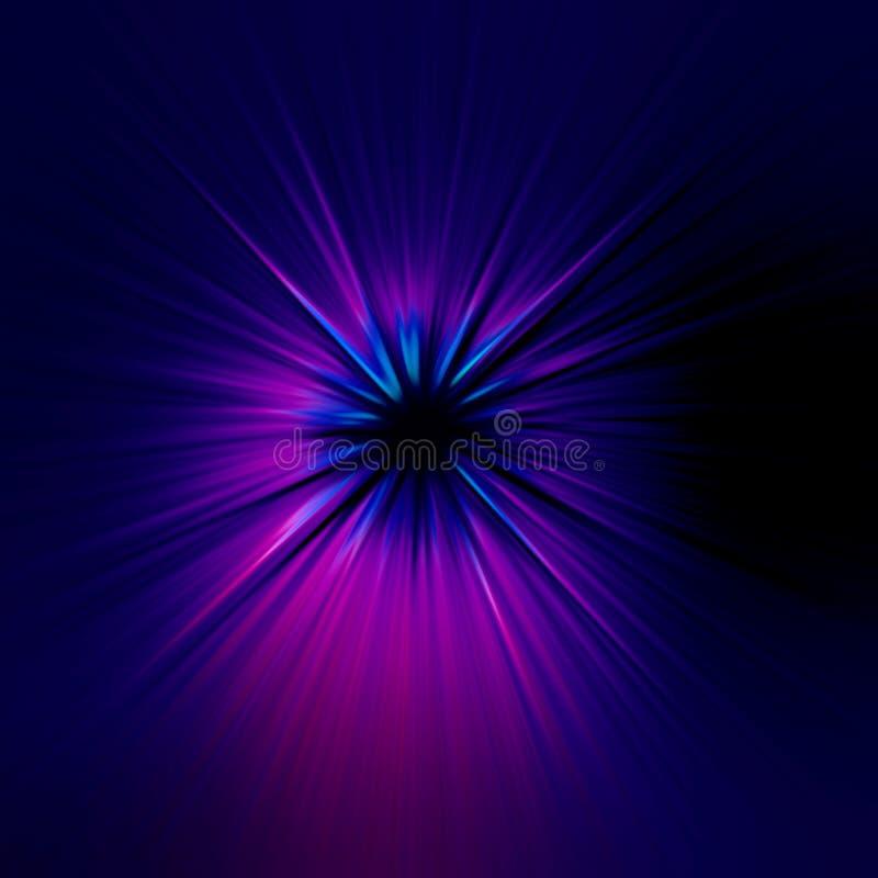 Starburst blauwe abstracte achtergrond royalty-vrije illustratie