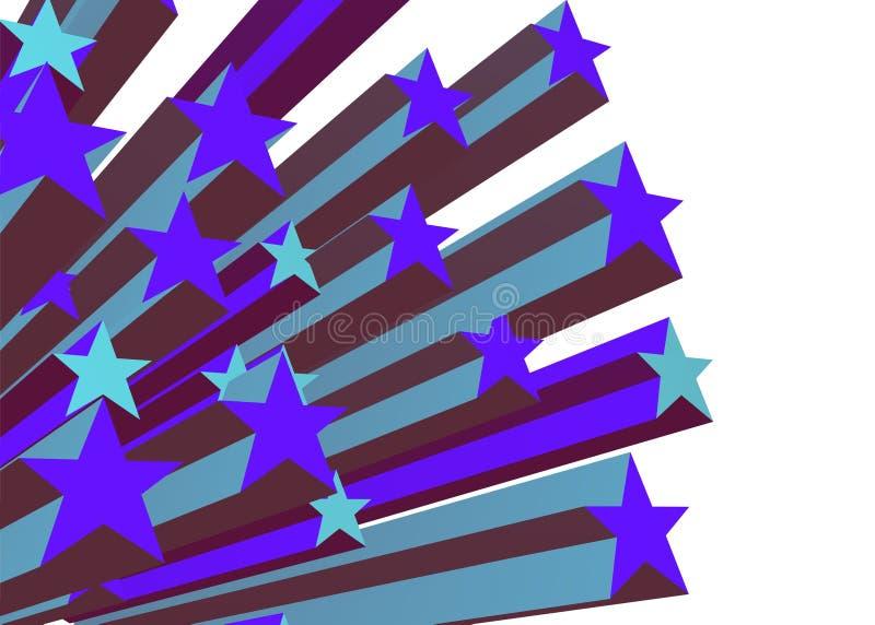 Starburst bleu 1 illustration de vecteur