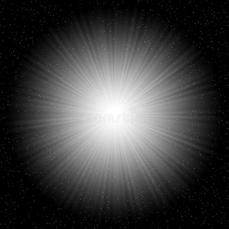 Starburst cosmique illustration de vecteur