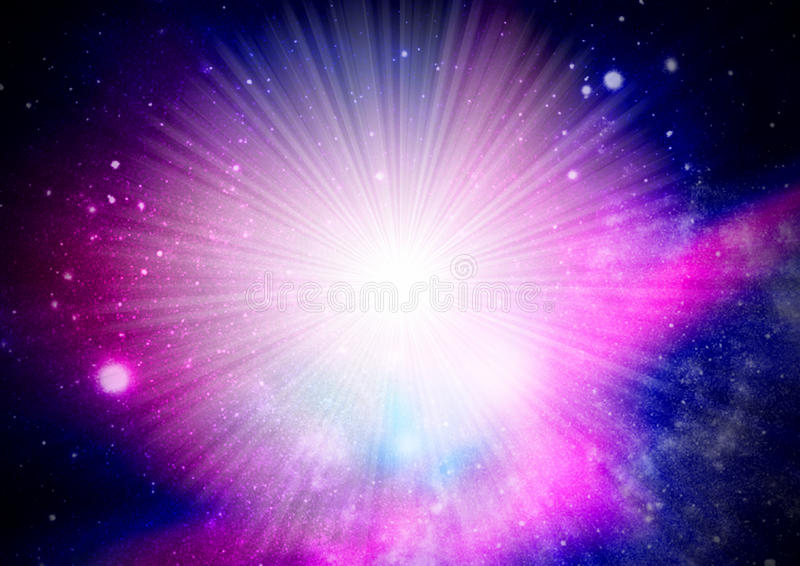 Starburst d'univers illustration libre de droits
