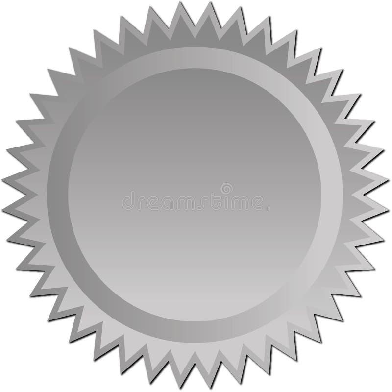 Starburst de prata ilustração do vetor