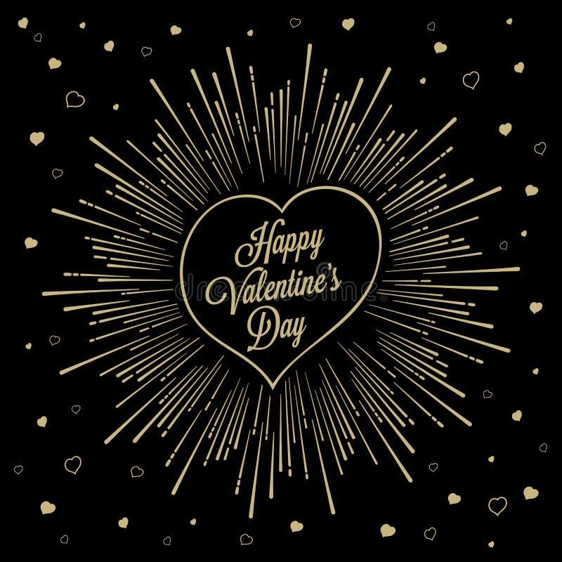 Starburst de Valentine heureux illustration libre de droits