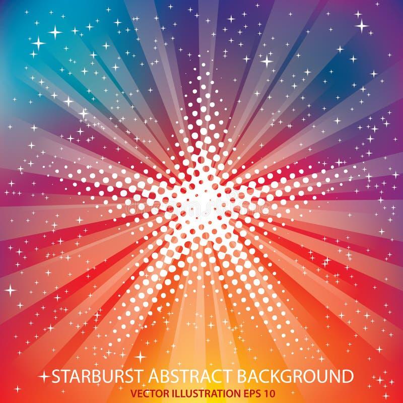 Starburst del punto del arco iris stock de ilustración