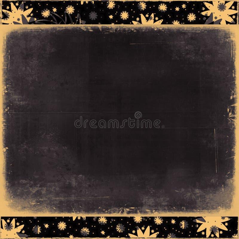 Starburst dell'annata/blocco per grafici del fiocco di neve illustrazione di stock