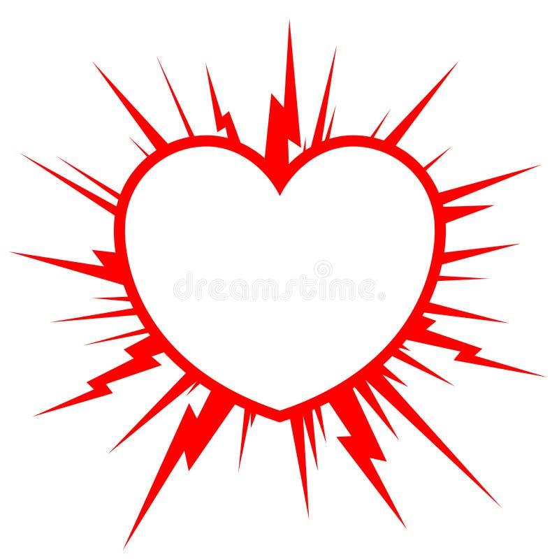 Starburst do coração ilustração royalty free