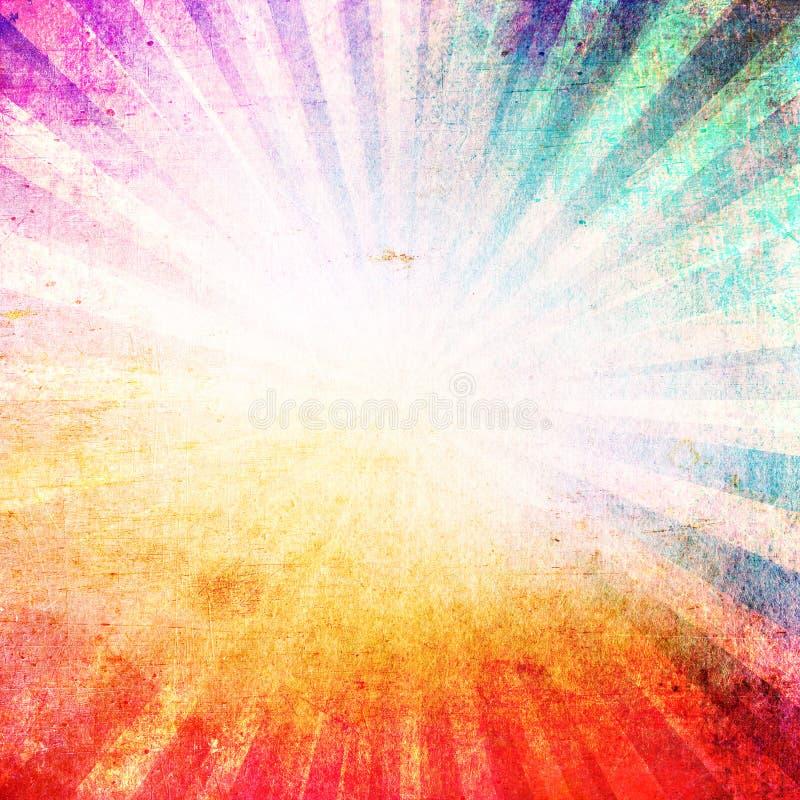 Starburst do estilo retro & fundo à moda bonitos do sunburst ilustração do vetor