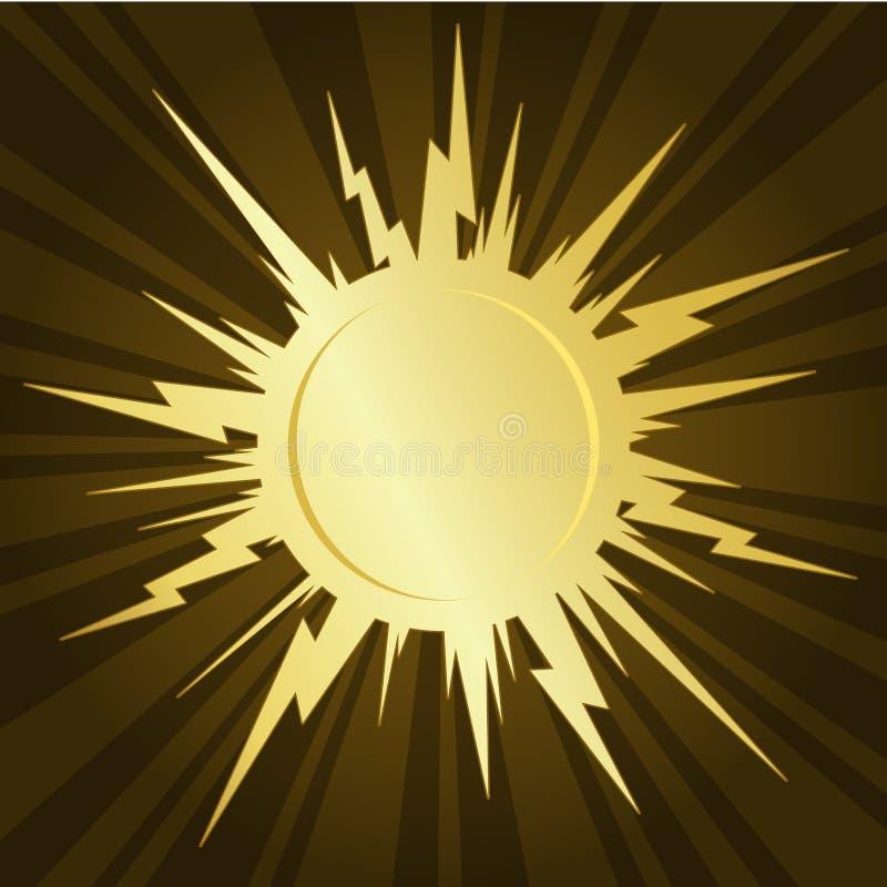 Starburst dourado ilustração stock