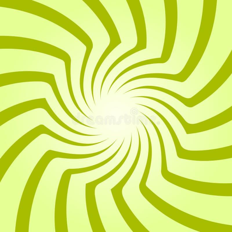 Starburst en spirale, ensemble de fond de rayon de soleil Lignes, rayures avec la pirouette, effet tournant de déformation illustration libre de droits