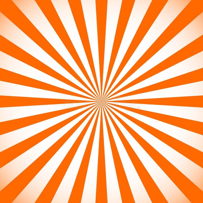 Starburst, fond de rayon de soleil Modèle monochrome circulaire avec illustration stock