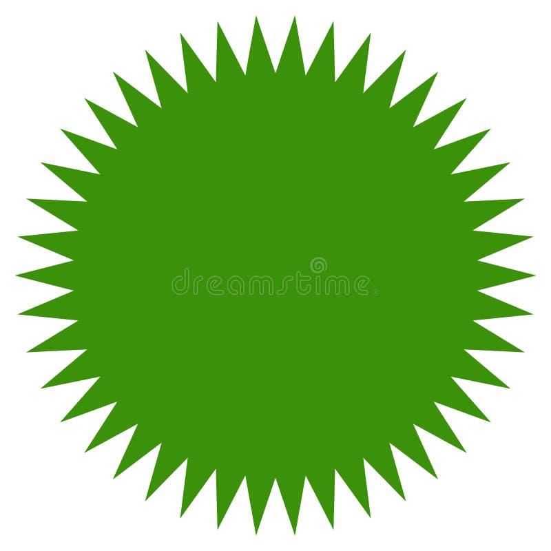 Starburst, forma dello sprazzo di sole Prezzo da pagare piano, icona istantanea di prezzi illustrazione di stock