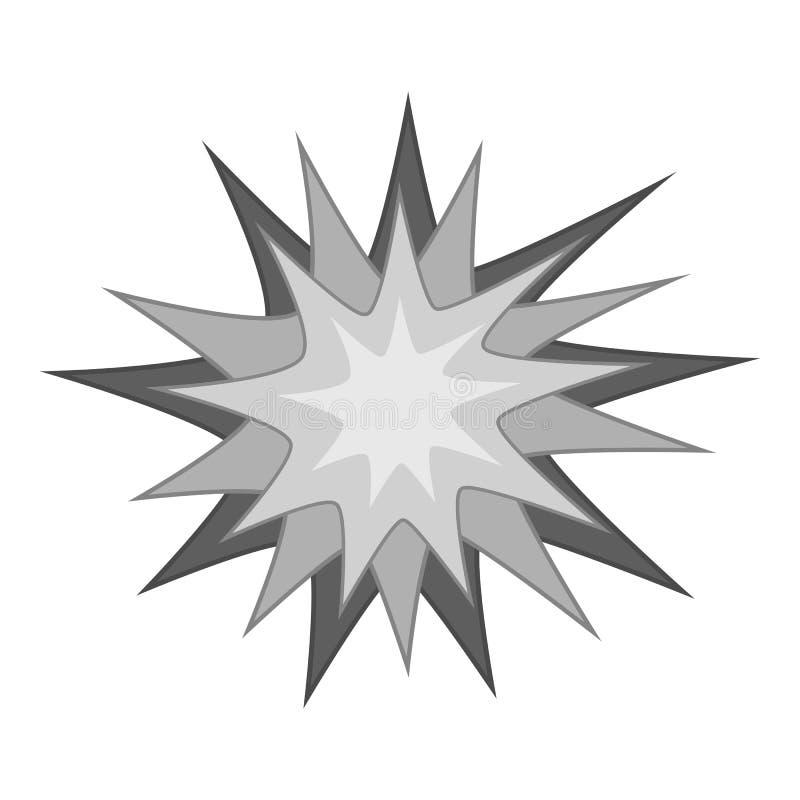 Starburst ikony monochrom ilustracji