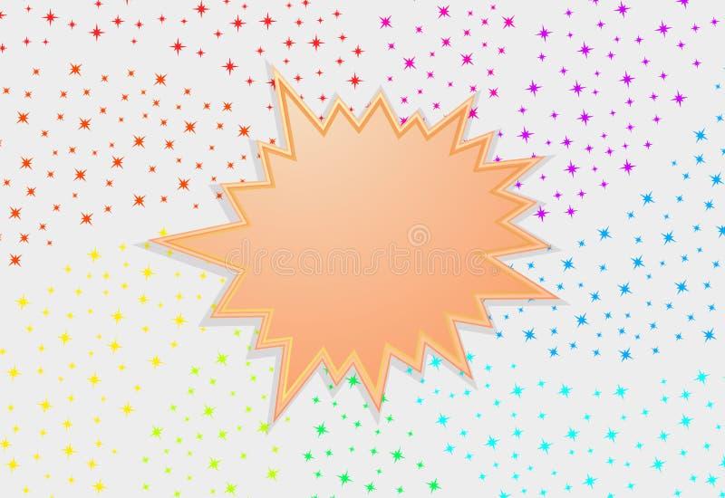 Starburst pluśnięcia gwiazdy abstrakta tło royalty ilustracja