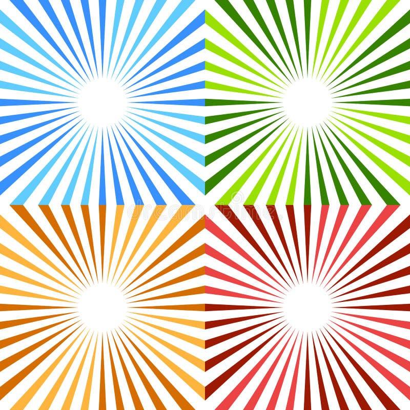 Free Starburst, Sunburst Circular Pattern In 4 Color. Colorful Rays, Stock Photos - 83652443