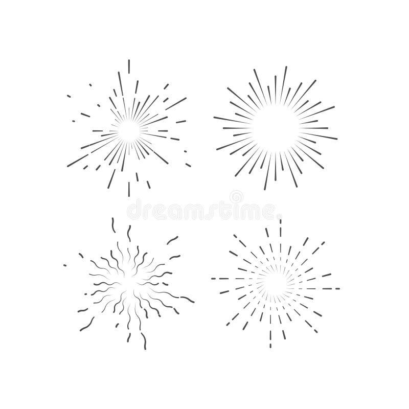 Download Starburst Or Sunburst Collection Stock Vector