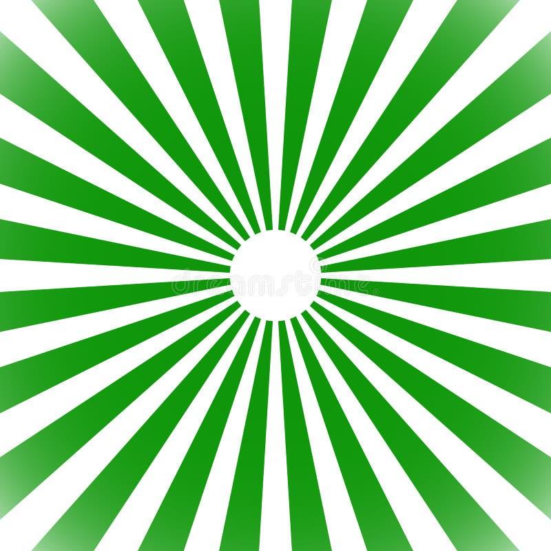Starburst, sunburst tło Kółkowy monochromu wzór z ilustracja wektor