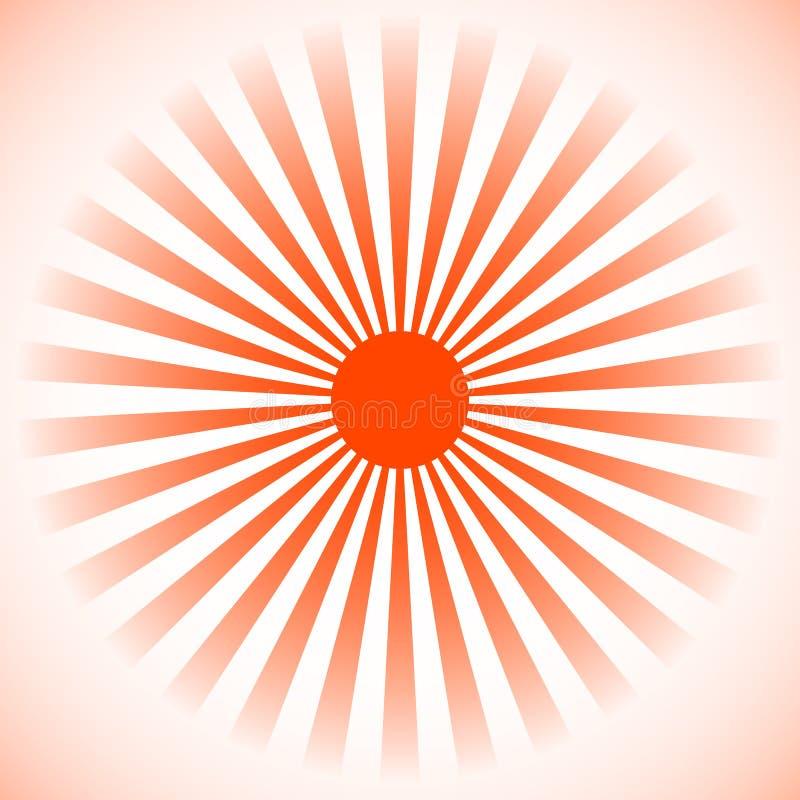Starburst sunburstbakgrund Radiella linjer, band med circl stock illustrationer