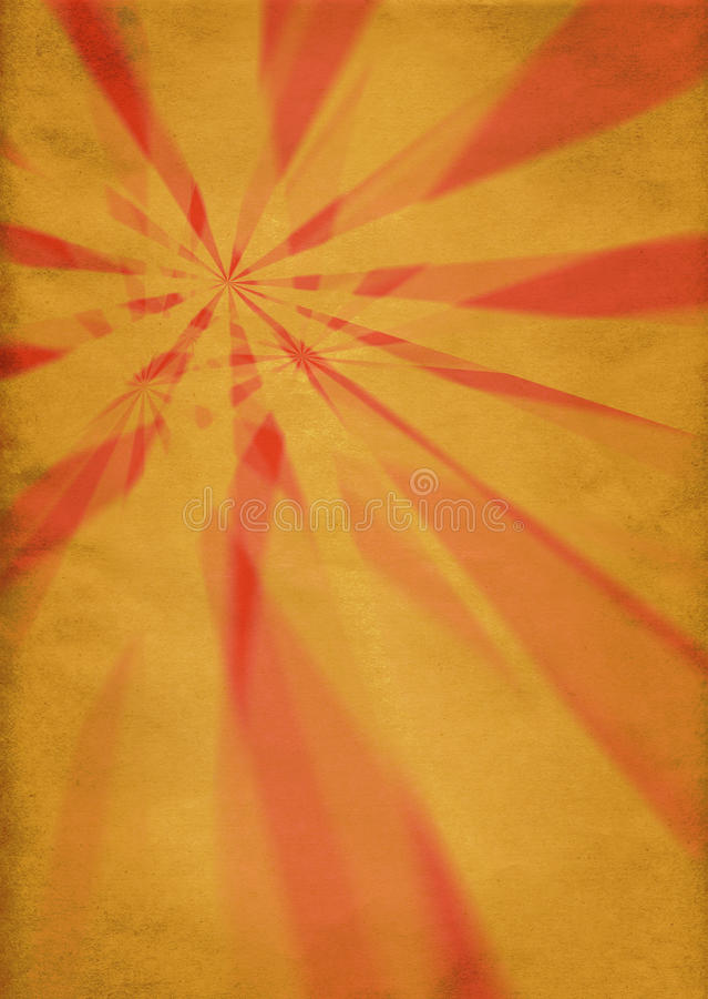 Starbursts retros ilustración del vector