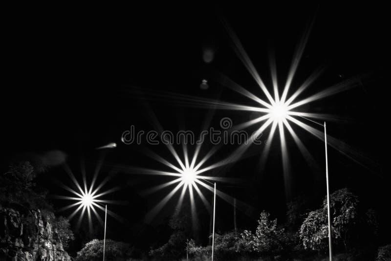 Starburststraatlantaarns stock foto's