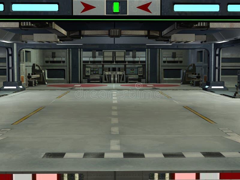 Starcarrier adentro ilustración del vector