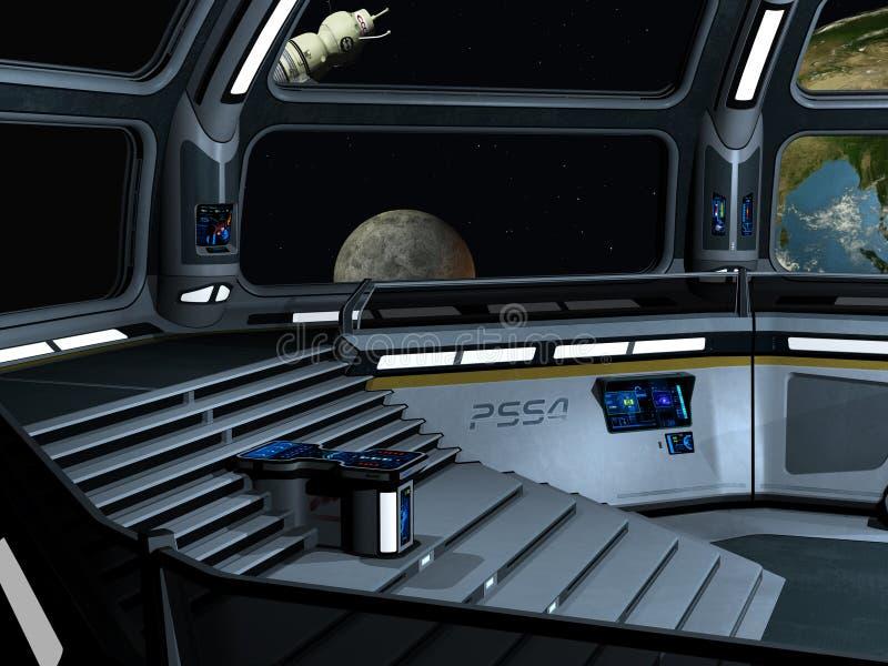 Starcarrier binnen royalty-vrije illustratie