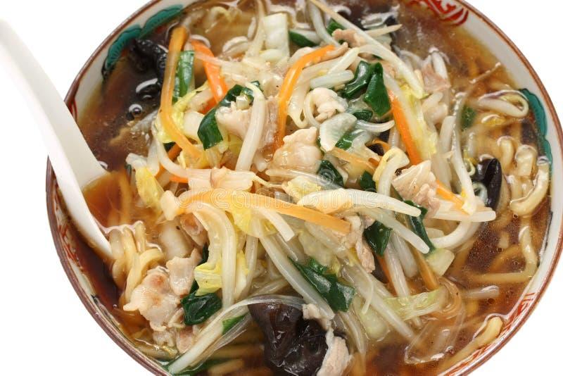Starchy japoneses ramen macarronetes, alimento japonês fotos de stock