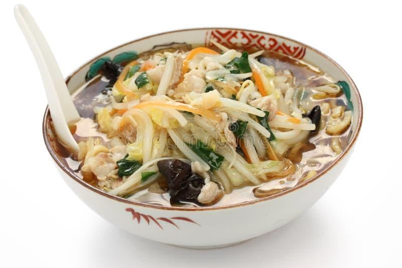Starchy japoneses ramen macarronetes, alimento japonês imagem de stock royalty free
