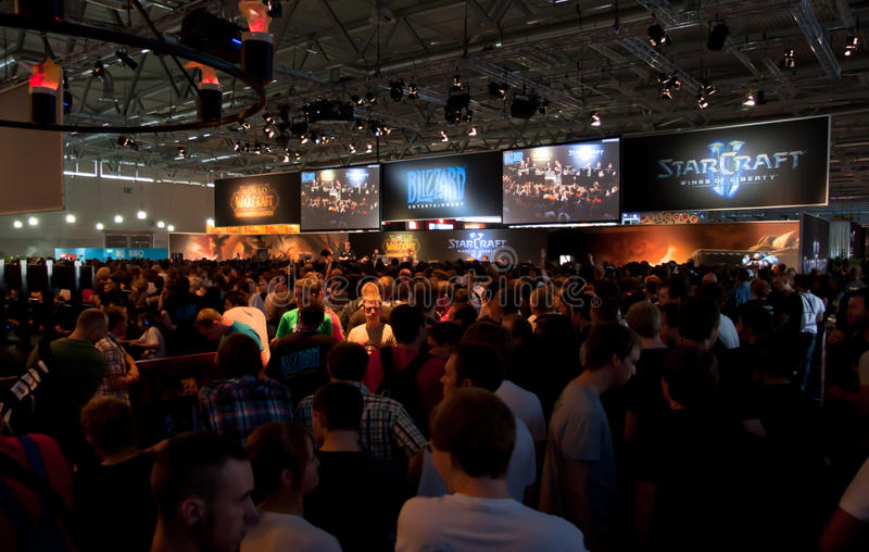 Starcraft and World of Warcraft Booth at Gamescom stock image