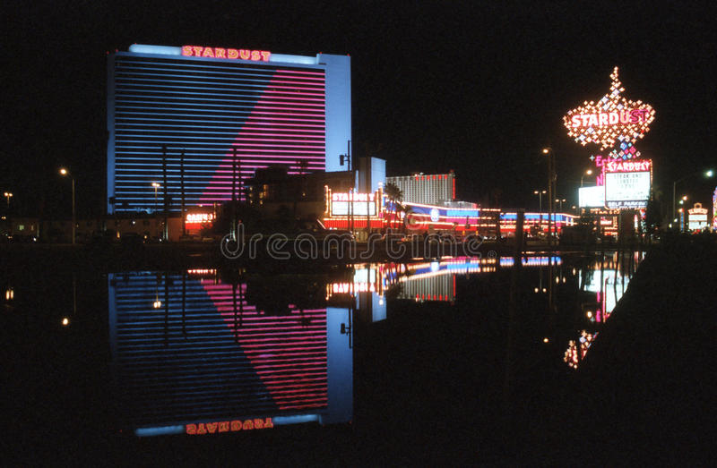 Stardust Casino Las Vegas. LAS VEGAS, NEVADA - March 10: Archival photo of the Stardust Resort and casino. The hotel opened in 1958 and was imploded in 2007 to stock photos