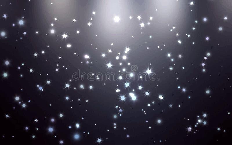 Stardust från ovannämnd bakgrund vektor illustrationer