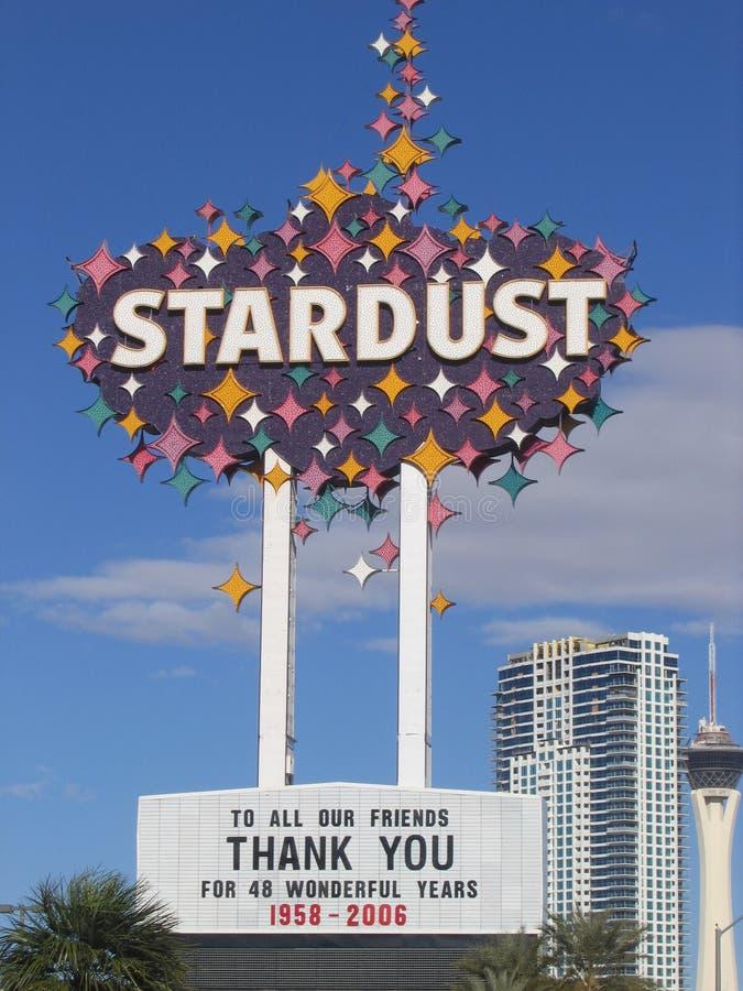 Stardust kasino, Las Vegas, himmel, advertizing, rekreation, värld arkivbilder
