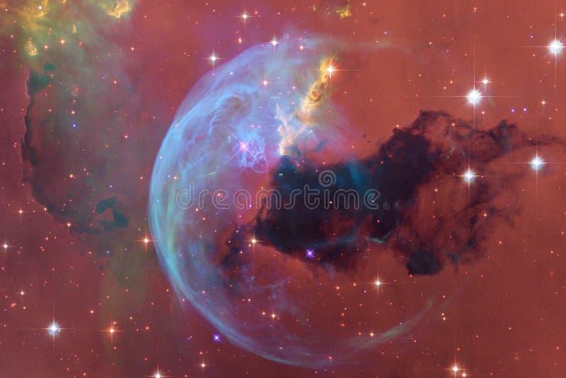 Stardust und Nebelfleck Starfield im endlosen schönen Universum stock abbildung