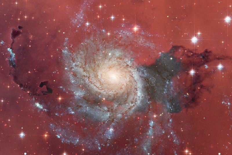 Stardust und Nebelfleck Starfield im endlosen schönen Universum lizenzfreie abbildung