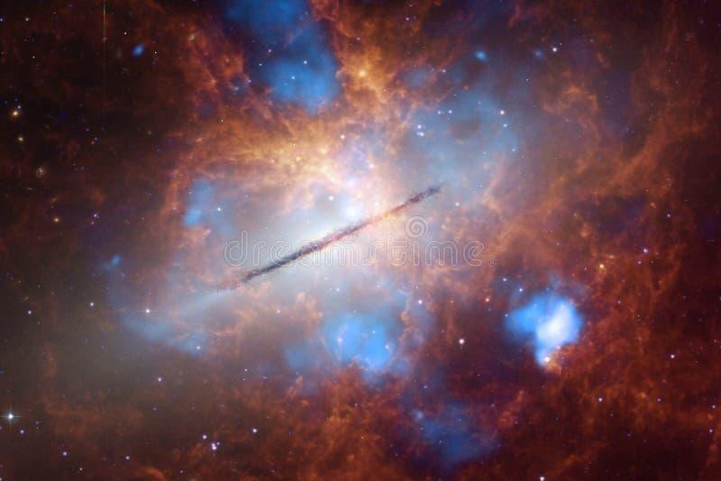 Stardust und Nebelfleck Starfield im endlosen schönen Universum vektor abbildung