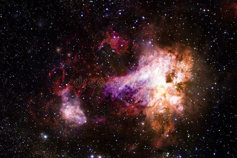 Stardust und Nebelfleck Starfield im endlosen sch?nen Universum stock abbildung