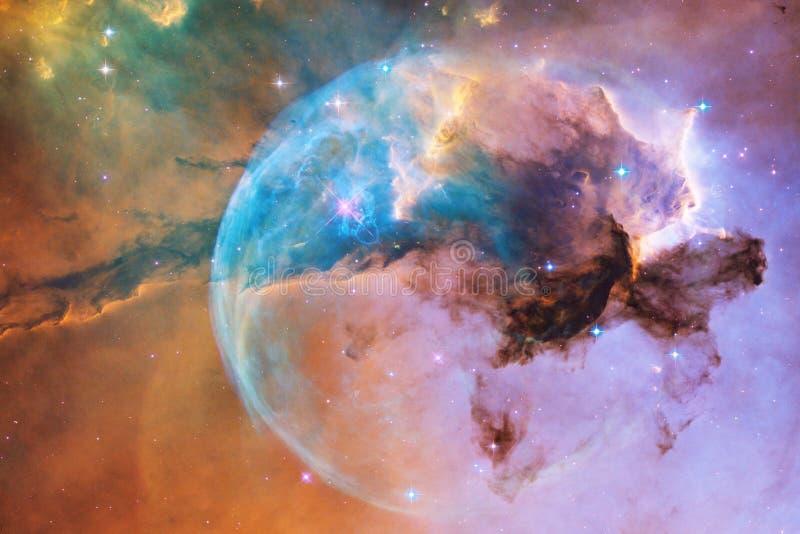 Stardust und Nebelfleck Starfield im endlosen sch?nen Universum lizenzfreie abbildung