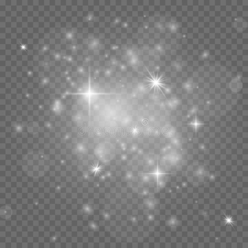 Free Stardust. White Christmas Isolated Sparkles, Festive Glowing Stars. Group Of Twinkle Lights. Xmas Party Vector Stock Photography - 162857012