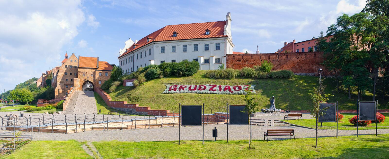 Stare ściany Grudziadz, Polska fotografia stock