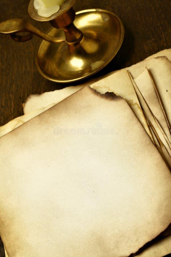stare świeczek strony zdjęcia stock