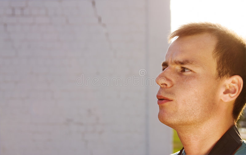 Download Stare stock image. Image of thoughtful, sunny, backlighting - 7453573